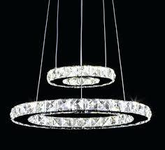 aliexpresscom modern crystal pendant lighting round led crystal re light lamp fixture res home lighting 2 rings hanglamp nordic light from