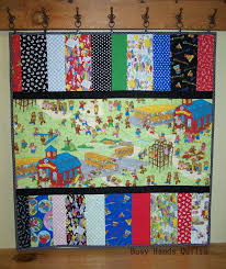 Busy Hands Quilts: Berenstain Bears Baby Quilt {A Finish!} & This lovely stack of Bear Country fabric was in my house less than a day  before being made into a quilt! I just couldn't wait to sew it! Adamdwight.com