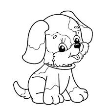 Coloring Page Outline Of Cartoon Dog Stockvectorkunst En Meer