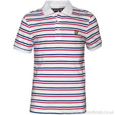 men s jersey polo white white blue red lyle and scott tram stripe polos eye catching