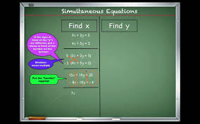 simultaneous linear equations how to solve step by step