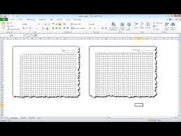 Make Graph Paper In Excel Youtube
