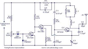 telephone transmitter electronic circuits and diagram Wiring Schematic Diagram 200m Fm Transmitter Simple Circuit telephone transmitter circuit