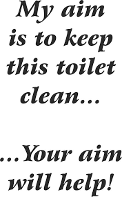 my aim is to keep toilet clean sticker bathroom funny