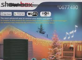Musical Outdoor Christmas Lights Show Box 0677490 App Controlled Wifi Light Show Control Box With Speaker