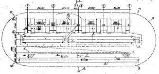 Условные обозначения Стройгенплана 1 башенный кран КБ 405 1А 2 подкрановый путь 3 ограждение подкранового пути 4 контур заземления 5 контрольный груз 6 прицеп панелевоз