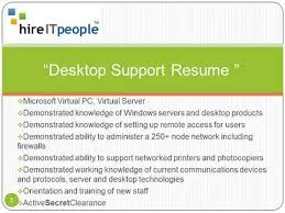 desktop resume desktop support resume youtube