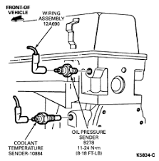 94 ford ranger my oil pressure switch 2 3l 2wd for installation follow removal procedures in reverse order tighten switch to 11 24 nm 8 18 ft lb graphic