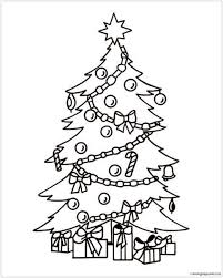 christmas tree with presents drawing. Unique Christmas Coloring Pages Of Christmas Trees Fresh Tree With Presents Drawing At  Getdrawings On Throughout I