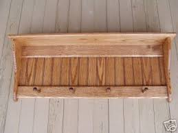 Country Coat Racks Wood Coat Rack Country Shaker Shelf Oak 100 Wall SHelf 6