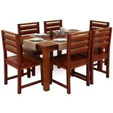 indian dining table 6 chairs. steve compact 6 seater dining set (honey finish) indian table chairs