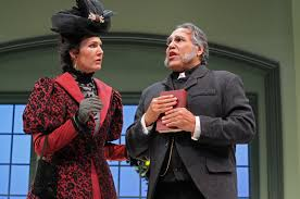 review the importance of being earnest at stanford summer courtney walsh lady bracknell and marty pistone canon chasuble in stanford summer