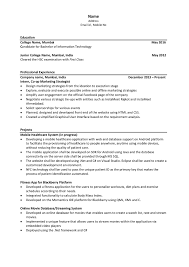 Extra Curricular Activities For Resume Resume Template