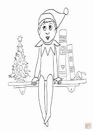 Free Printable Elf On The Shelf Coloring Pages - Coloring Home