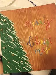 diy host holiday paint and sip party easy tree painting