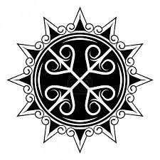 Vektorová Grafika Vektorový Obrázek šikmé Kříže A Stylizovaného