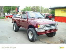 1992 Toyota Pickup Deluxe Regular Cab 4x4 in Garnet Red Pearl ...