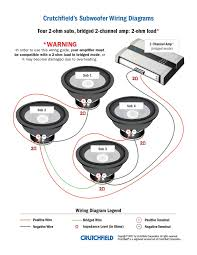 2 ohm woofer wiring diagram load sub in 4 dual voice coil 2 dual 2 ohm to 1 ohm at Dual Voice Coil Subwoofer Wiring Diagram