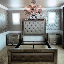 Simple Astonishing Mirrored Bedroom Set Glass Bedroom Furniture