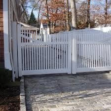 vinyl fence double gate. Vinyl Fence Double Gate Installation