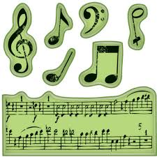 music note stamp inkadinkado music notes mini cling rubber stamp 60 60152