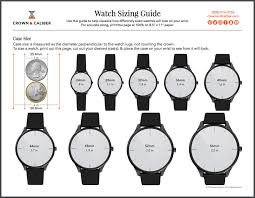 Watch Sizes Chart Watch Size Chart Watch Band Dial Bezel Size Guide
