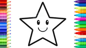 how to draw stars for baby fun coloring book and drawing for kids