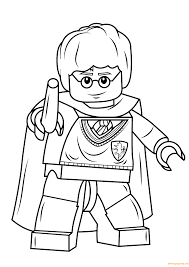 Lego Harry Potter Wands Coloring Page - Free Coloring Pages Online