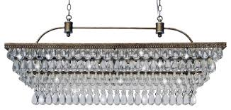 weston 40 rectangular glass drop chandelier