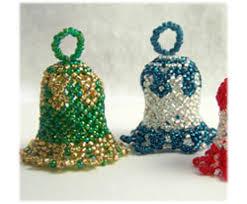 Beaded Christmas Ornaments Patterns Classy Christmas Bell Ornament Sova Enterprises