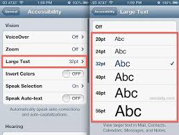 change text size change the font size of messages on the iphone to be more readable