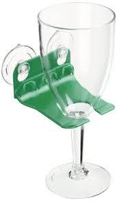 bathtub wine glass holder suction cups by wavehooks