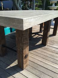 Concrete Top Dining Tables Thick Concrete Top Dining Table Mecox Gardens