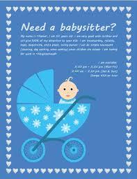 Short Notice Babysitter Babysitting Flyers And Ideas 16 Free Templates