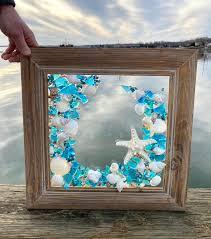 large beach glass coastal window mixed