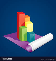 Business Three Dimensional Graph On Paper
