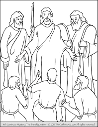 The 4th Luminous Mystery Coloring Page The Transfiguration