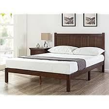 queen wood platform bed. Unique Queen Zinus Wood Rustic Style Platform Bed With Headboard  No Box Spring Needed  Slat With Queen E