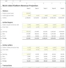 Month Profit And Loss Projection Excel Template Or Month