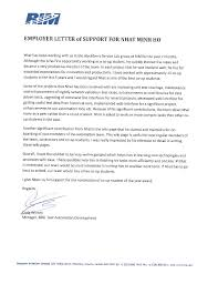 Gallery Of Employer Letter Of Support - Visa Letter Of Support ...