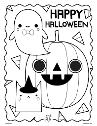 Add a small pack of crayons and you'll be the healthiest house on the block! Free Printable Halloween Coloring Page Crate Kids Blog