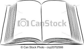 open book hand draw clip art vector