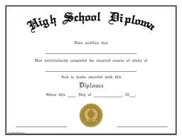 high school diploma template printables