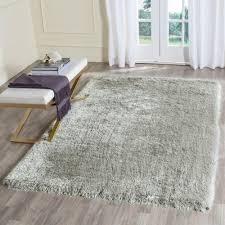 safavieh memory foam plush shag silver 5 ft x 8 area rug plush area rugs i65 rugs