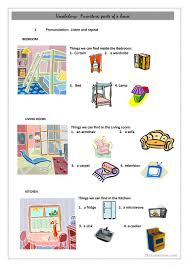 Vocab Building Worksheets Vocabulary Building Parts Of A House English Esl Worksheets