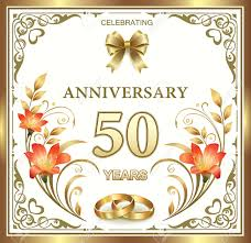 50th Wedding Anniversary Royalty Free Cliparts Vectors And Stock