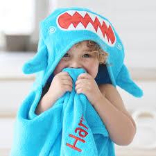 personalised shark towel personalised