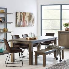 barnyard reclaimed wood dining table with bench 4 scoop chairs costco uk