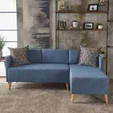 Augustus Mid Century Modern 2-piece Fabric Chaise Sectional Sofa Set by  Christopher Knight Home