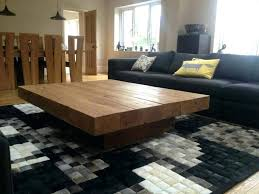 square wood coffee tables square wood coffee table remarkable big tables best ideas about large on